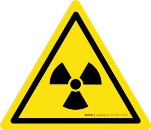 Radioactive Material or Ionizing Radiation Warning - ISO Floor Sign