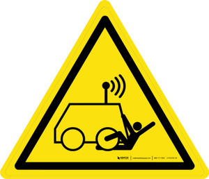 Remote Operator Controlled Machine Warning - ISO Floor Sign