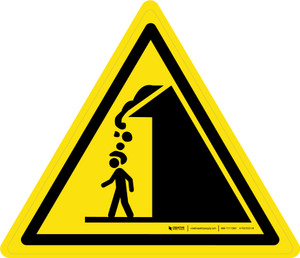 Roof Avalanche Warning - ISO Floor Sign