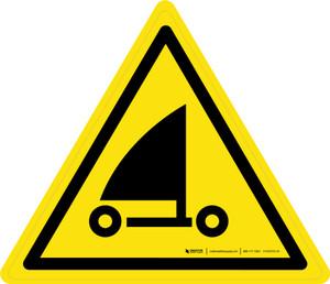 Sand Yachting Warning - ISO Floor Sign