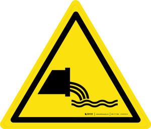 Sewage Effluent Outfall Warning - ISO Floor Sign