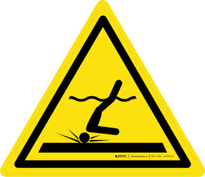 Shallow Water Warning - ISO Floor Sign