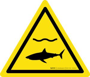 Sharks Warning - ISO Floor Sign