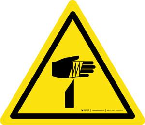 Sharp Elements Warning - ISO Floor Sign