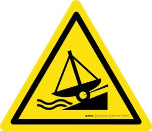 Slipway Warning - ISO Floor Sign