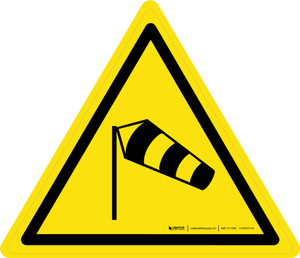Strong Winds Warning - ISO Floor Sign