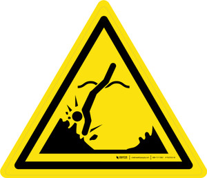 Submerged Objects Warning - ISO Floor Sign