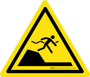 Sudden Drop in Swimming or Pools Warning - ISO Floor Sign