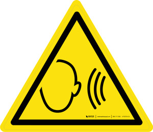 Sudden Loud Noise Warning - ISO Floor Sign