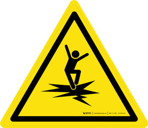 Thin Ice Warning - ISO Floor Sign