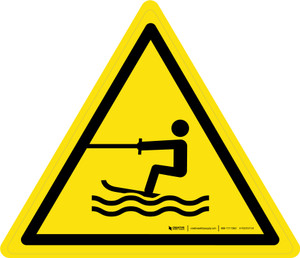 Towed Water Activity Area Warning - ISO Floor Sign