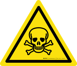 Toxic Material Warning - ISO Floor Sign