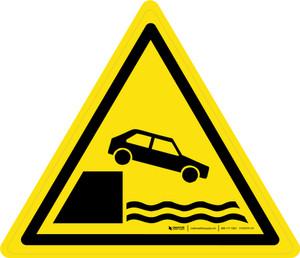 Unprotected Edges Warning - ISO Floor Sign
