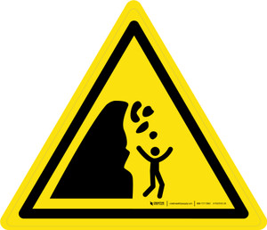 Unstable Cliff Warning - ISO Floor Sign