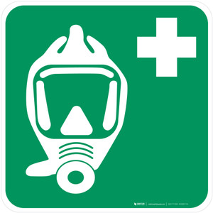 Emergency Escape Breathing Device Safe Condition - ISO Floor Sign