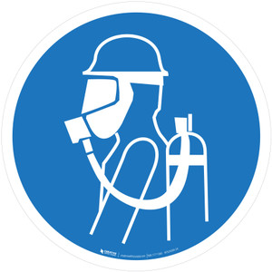 Use Self-Contained Breathing Appliance (SCBA) Mandatory - ISO Floor Sign