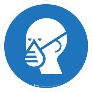 Wear a Mask Mandatory - ISO Floor Sign