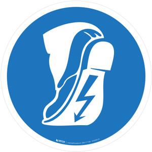 Wear Anti-Static Footwear Mandatory - ISO Floor Sign