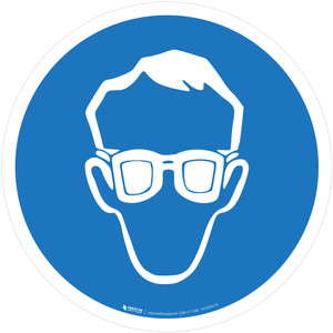 Wear Eye Protection Mandatory - ISO Floor Sign