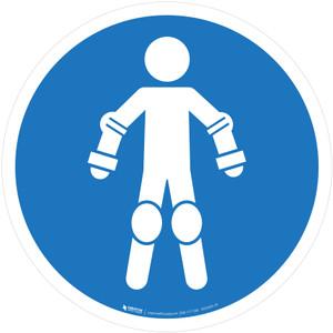 Wear Protective Roll Sport Equipment Mandatory - ISO Floor Sign