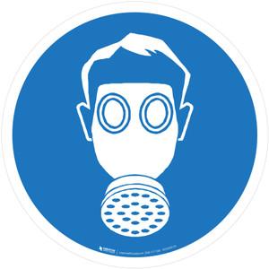 Wear Respiratory Protection Mandatory - ISO Floor Sign