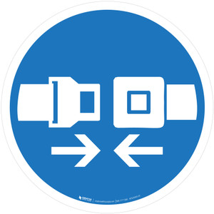 Wear Safety Belts Mandatory - ISO Floor Sign
