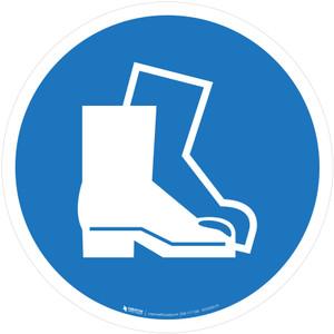 Wear Safety Footwear Mandatory - ISO Floor Sign