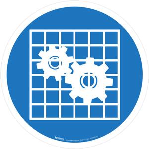 Check Guard Mandatory - ISO Floor Sign