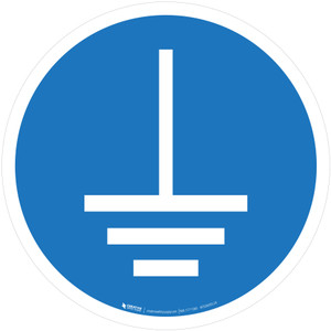 Connect Earth Terminal to the Ground Mandatory - ISO Floor Sign