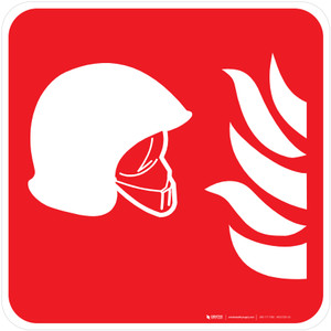 Collection of Fire Fighting Equipment Fire Safety - ISO Floor Sign