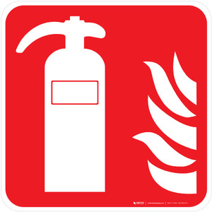 Fire Extinguisher Fire Safety - ISO Floor Sign