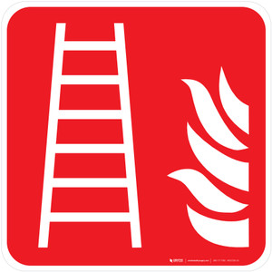 Fire Ladder Fire Safety - ISO Floor Sign