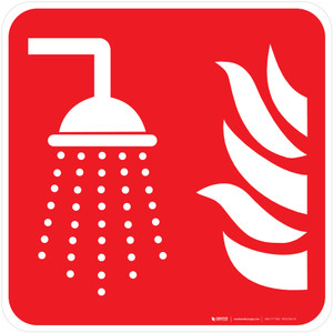 Water Fog Applicator Fire Safety - ISO Floor Sign