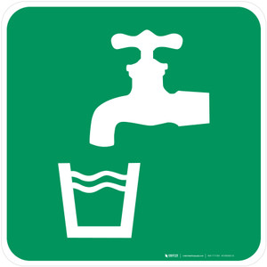 Drinking Water Safe Condition - ISO Floor Sign