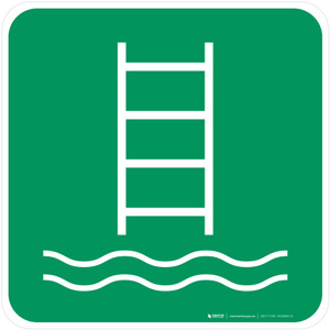 Embarkation Ladder Safe Condition - ISO Floor Sign