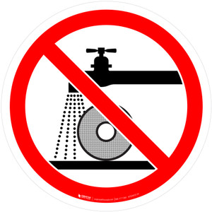 Do Not Use for Wet Grinding Prohibition - ISO Floor Sign