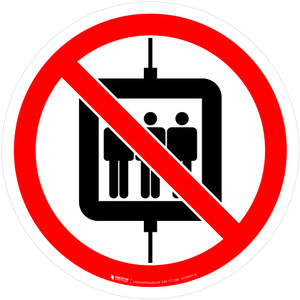 Do Not Use Lift for People Prohibition - ISO Floor Sign