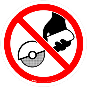 Do Not Use with Hand-Held Grinding Machine Prohibition - ISO Floor Sign