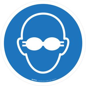 Opaque Eye Protection Mandatory - ISO Floor Sign
