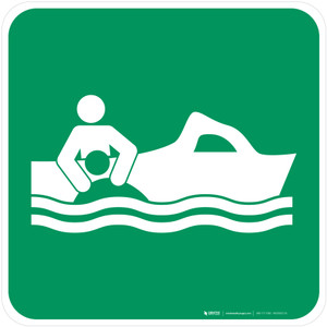 Rescue Boat Safe Condition - ISO Floor Sign