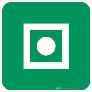 Shipboard General Alarm Safe Condition - ISO Floor Sign
