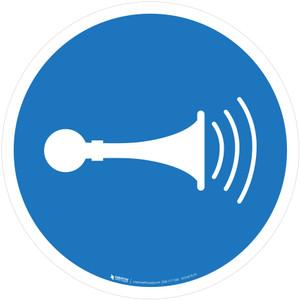 Sound Horn Mandatory - ISO Floor Sign