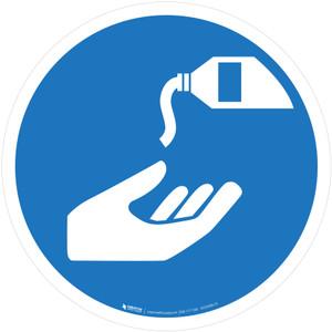 Use Barrier Cream Mandatory - ISO Floor Sign
