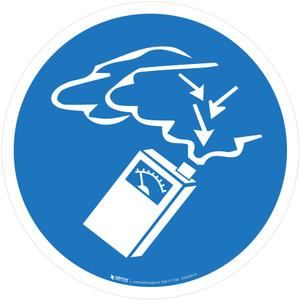 Use Gas Detector Mandatory - ISO Floor Sign