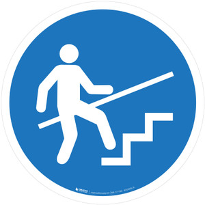 Use Handrail Mandatory - ISO Floor Sign