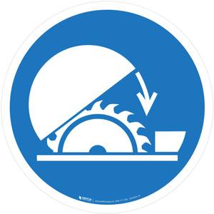Use Table Saw Adjustable Guard Mandatory - ISO Floor Sign