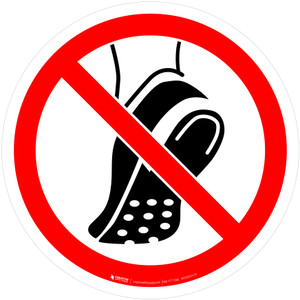 Do Not Weat Metal Studded Footwear Prohibition - ISO Floor Sign