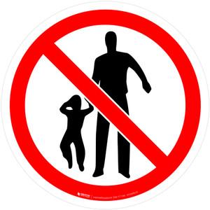 No Children Allowed Prohibition - ISO Floor Sign