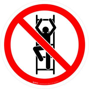 No Climbing Prohibition - ISO Floor Sign