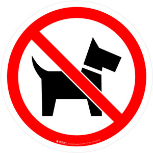 No Dogs Prohibition - ISO Floor Sign